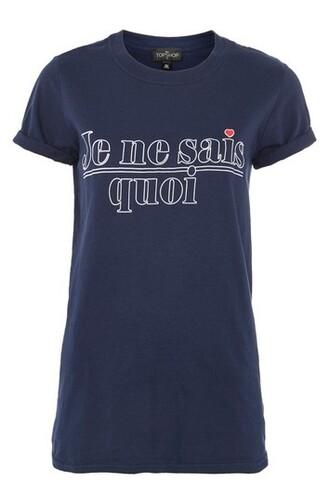 t-shirt shirt navy blue top