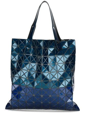 women geometric blue bag