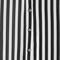 Lapel vertical stripe chiffon black blouse