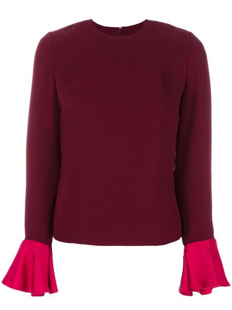 Roksanda blouse women silk red top