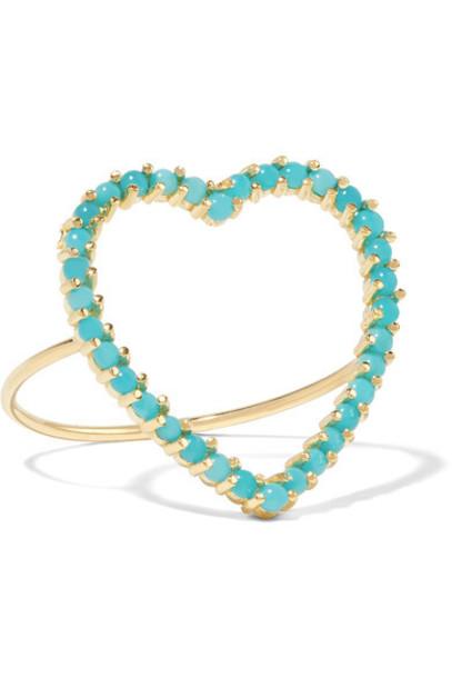 Jennifer Meyer - Open Heart 18-karat Gold Turquoise Ring