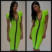 dress,lime,green,sexy,bodycon,bandage,celebrity,designer,blogger,hot,youtube,celebrity style,cecebtq,tattoo,polyvore
