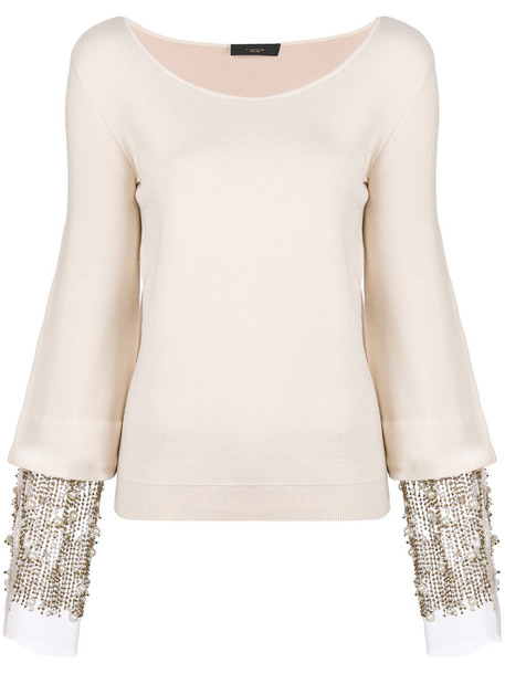 Lédition top women embellished nude