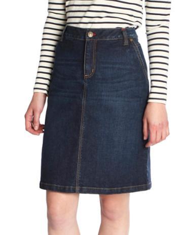 denim womens knee length denim skirt joules us