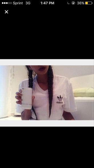 shirt adidas white white shirt cute dope fashion fashion toast fashion vibe fashion is a playground fashion coolture