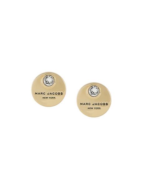 Marc Jacobs women embellished earrings stud earrings grey metallic jewels