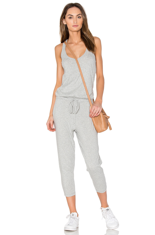 Bobi Supreme Jersey Sleeveless Jumpsuit in gray