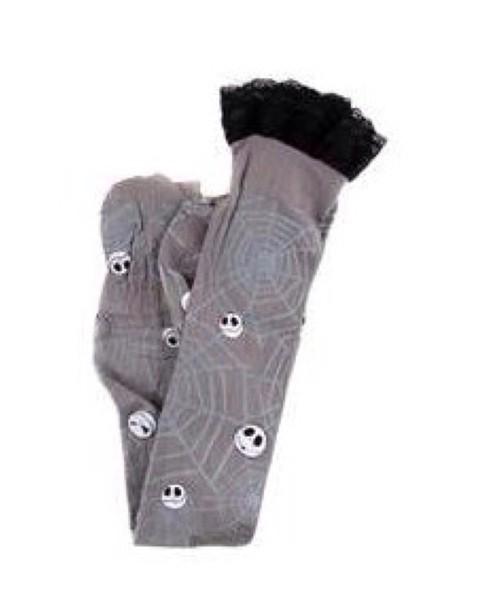 socks thigh highs nightmare before christmas jack skellington grey