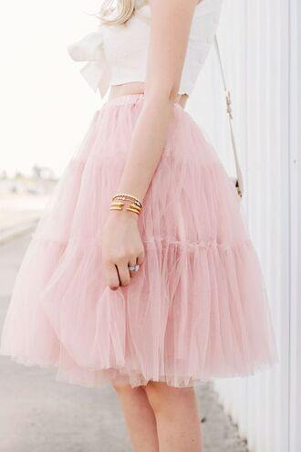 skirt girly tulle skirt pink skirt