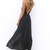 Black Longer Lengths Dress - Black Plunging V-Neck Maxi Dress | UsTrendy