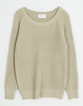 sweater,waffle knit,chunky,off the shoulder,cream