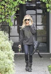 sweater,ashley tisdale,studd,heart,black,bag,shoes