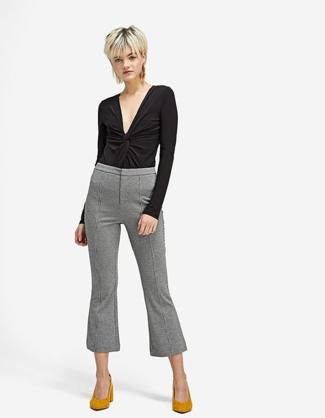 Stradivarius flare black pants
