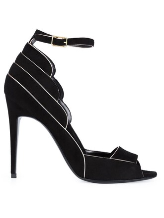 ankle strap sandals black shoes