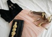dress,nude,black,nude and black,short,v neck,tulle skirt,underwear