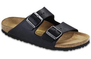 Arizona black oiled leather sandals