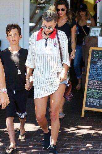 t-shirt sofia richie shorts sunglasses sneakers oversized oversized t-shirt baseball
