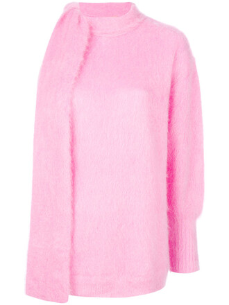 jumper women mohair wool purple pink sweater