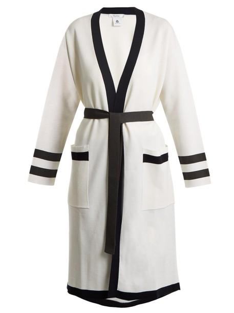 Max Mara cardigan cardigan navy white sweater