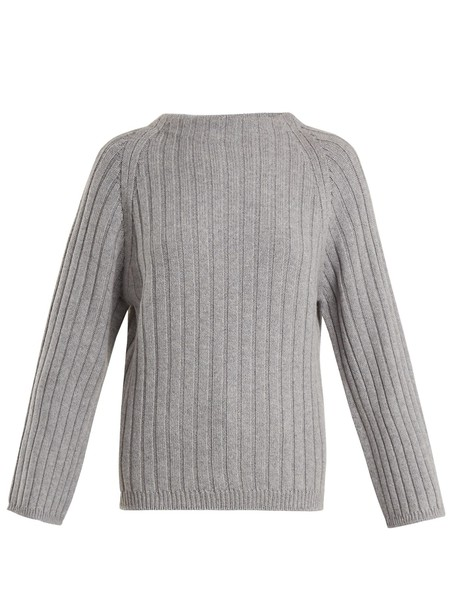 QUEENE AND BELLE sweater knit grey