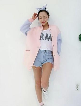 students sweet space cotton baseball jacket · Fashion Kawaii ...