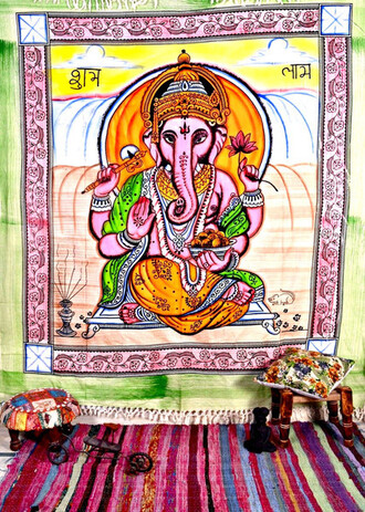 home accessory ganesha tapestry elephant tapestry hindu tapestry hippie tapestry bohemian wall hanging tapestry indian tapestry