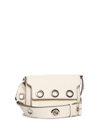 embellished bag leather bag leather white