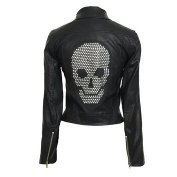 jacket leather leather jacket skull skull jacket skull sweater glitter