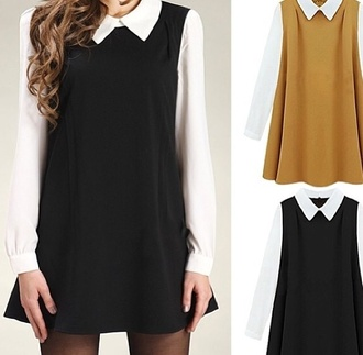 dress black brown back to school blouse
