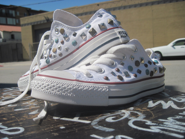 Kettle black converse sneakers