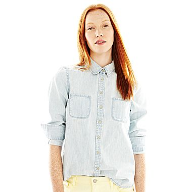 jcpenney | Joe Fresh™ Button-Front Denim Shirt