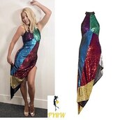dress,attico,sequin dress,holly willoughby