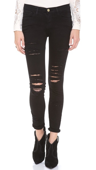 FRAME Denim Le Color Rip Skinny Jeans | SHOPBOP