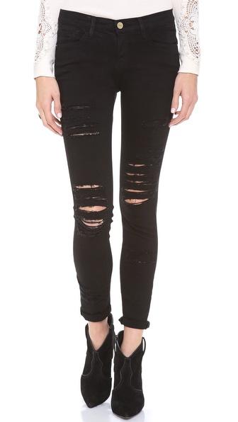 FRAME Denim Le Color Rip Skinny Jeans | SHOPBOP