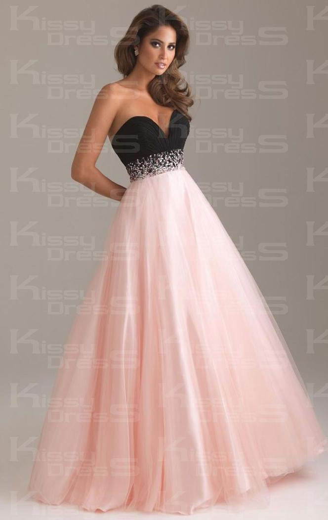 dress, prom dress, pink dress, pink, prom, black, diamonds ...