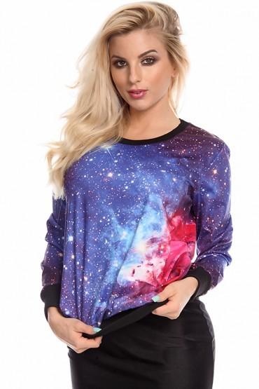 Blue galaxy sweatshirt