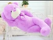 home accessory,purple,teddy bear,giant teddy bear