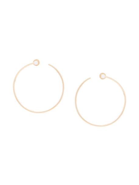 Anita Ko women earrings hoop earrings gold yellow grey metallic jewels