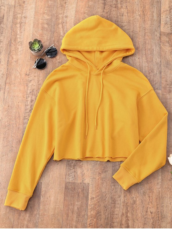 Pullover Cropped Sporty Hoodie