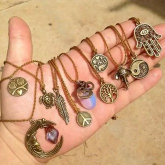 jewels necklaces buddhism ohm bohemian boho native american