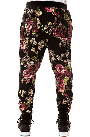 Elwood Pants Digi Floral Skinny Jogger in Black and Pink -  Karmaloop.com