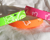 Bandana Knot Headband NEON PINK by shirkdesigns on Etsy
