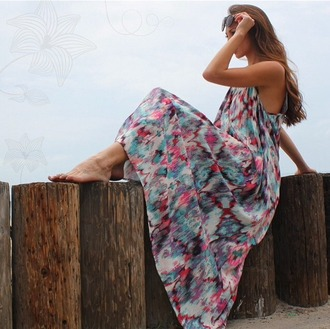 dress one size one size dress printed dress printed maxi low back boho dress bohemian dress