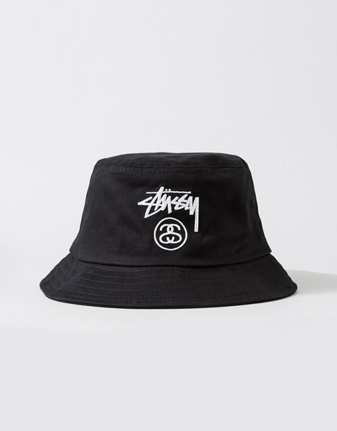 varastossa yksityiskohdat uusia valokuvia Stussy Stock lock bucket hat black
