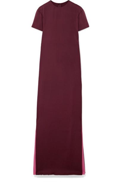 Valentino gown silk burgundy dress