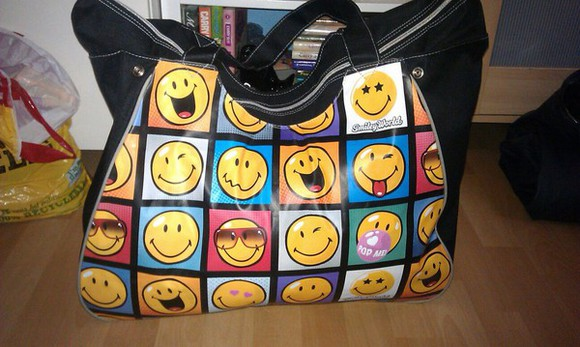 smiley face bag emotion holiday smileys emoji, stickers,smileys