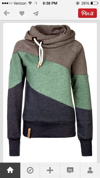 sweater gray, green, black, hoodie