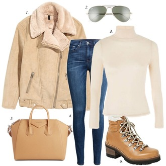 dailystylefinds blogger jacket sunglasses top jeans bag shoes