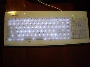 Amazon.com: illuminated glowing white usb keyboard for mac & pcs