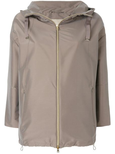 Herno jacket hooded jacket women spandex grey